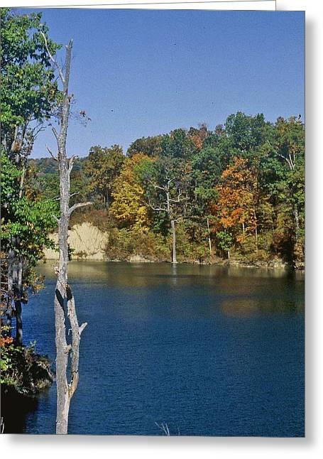 Indiana Autumn Greeting Cards - Brookville Lake Brookville Indiana Greeting Card by Gary Wonning