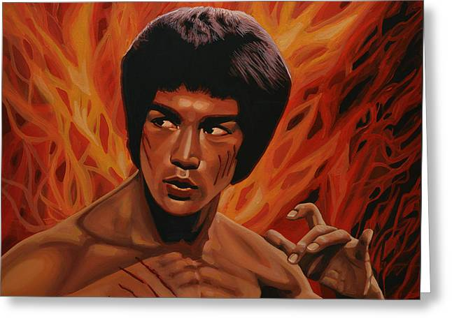 Bruce Lee Enter The Dragon Greeting Card by Paul Meijering