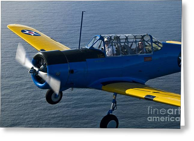 Air Craft Greeting Cards - BT-13 Valiant Greeting Card by Susan Yates