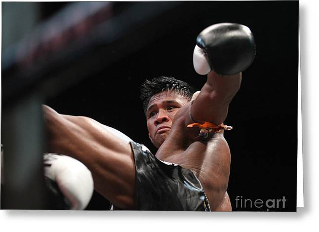 Buakaw The Muay Thai Master Greeting Card by Rames Ratyantarakor