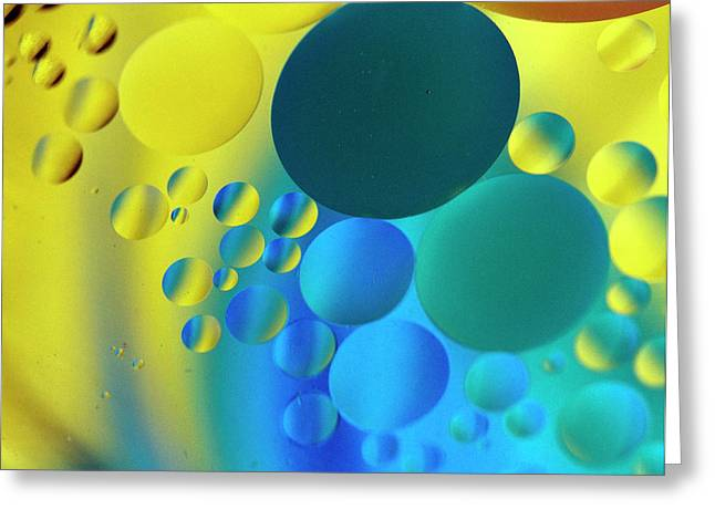 Abstract Globes Greeting Cards - Bubbles Greeting Card by Rebecca Cozart