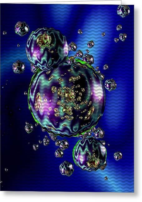 Abstract Digital Pastels Greeting Cards - Bubbliana Catus 2 no. 5 V b Greeting Card by Gert J Rheeders
