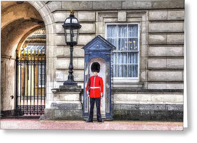 Buckingham Palace Queens Guard Art Greeting Card by David Pyatt