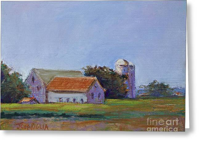 Pa Pastels Greeting Cards - Bucks County Barn Greeting Card by Joyce A Guariglia
