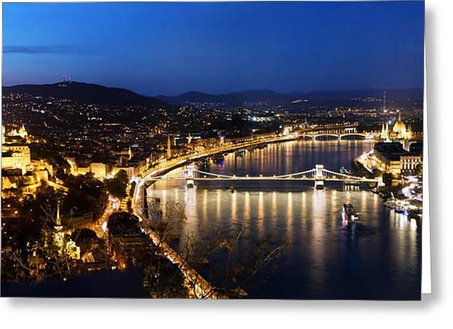 Budapest. View From Gellert Hill Greeting Card by Michal Bednarek