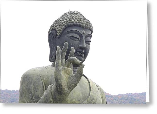 Zen Sculptures Greeting Cards - Buddha Greeting Card by FL collection