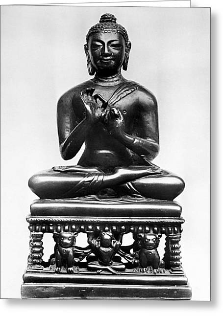 7th Century Greeting Cards - Buddha Greeting Card by Granger