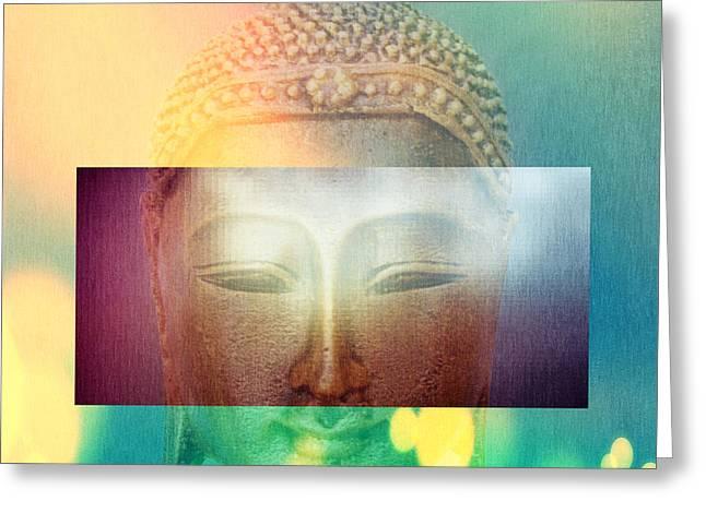 Buddha Greeting Card by Mark Ashkenazi