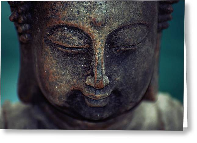 Spa work Mixed Media Greeting Cards - Buddha meditation Greeting Card by Magdalena Walulik
