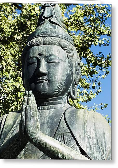 Sightsee Greeting Cards - Buddha statue Greeting Card by Bill Brennan - Printscapes