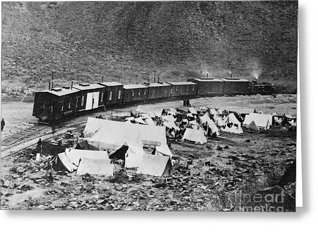 Harts Greeting Cards - Building The Transcontinental Railroad Greeting Card by Omikron