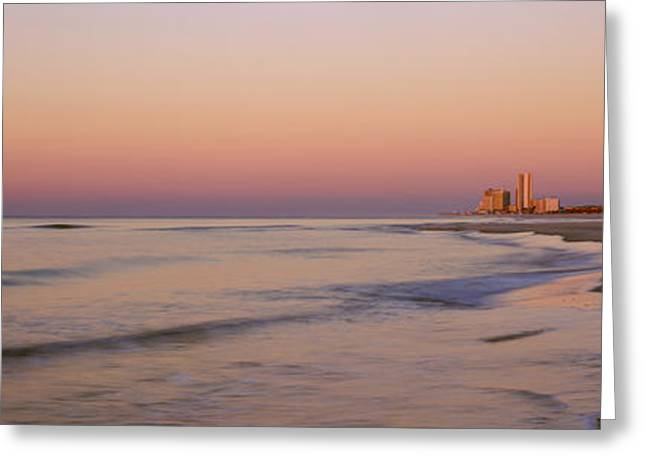 Buildings At The Waterfront, Gulf Greeting Card by Panoramic Images
