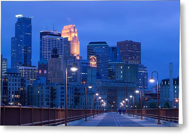 Buildings In A City, Minneapolis Greeting Card by Panoramic Images