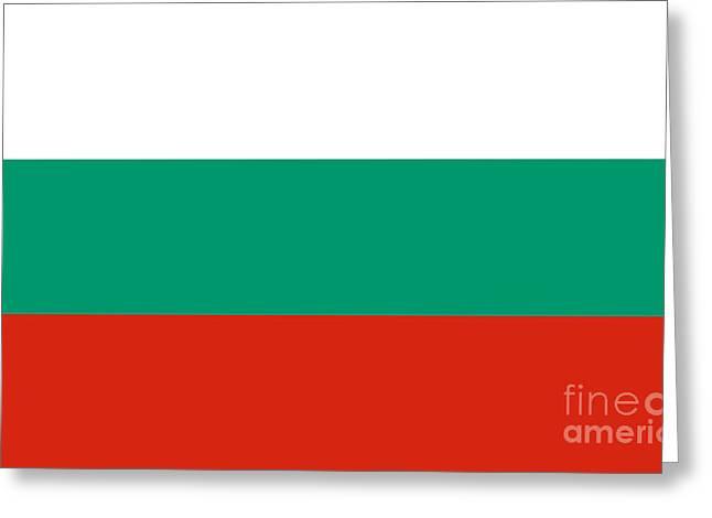 Bulgaria Mixed Media Greeting Cards - Bulgaria Flag Greeting Card by Frederick Holiday