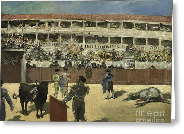 Bullfight Greeting Card by Edouard Manet