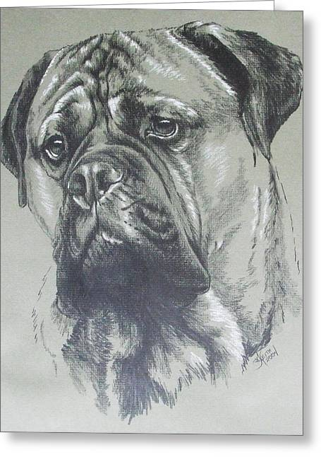 Working Dog Greeting Cards - Bullmastiff Greeting Card by Barbara Keith
