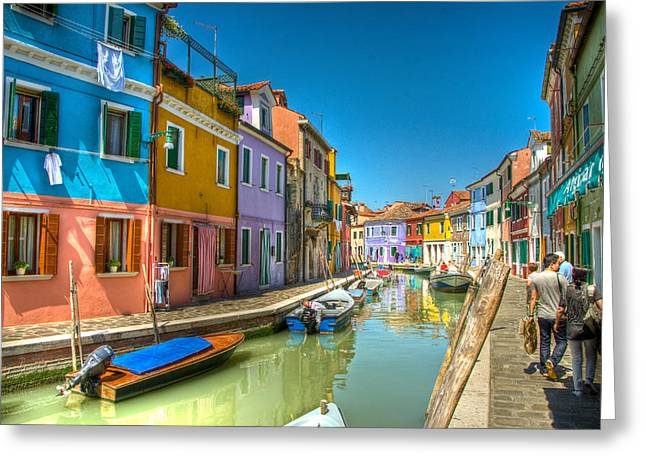 Berghoff Greeting Cards - Burano Canal Greeting Card by Jon Berghoff