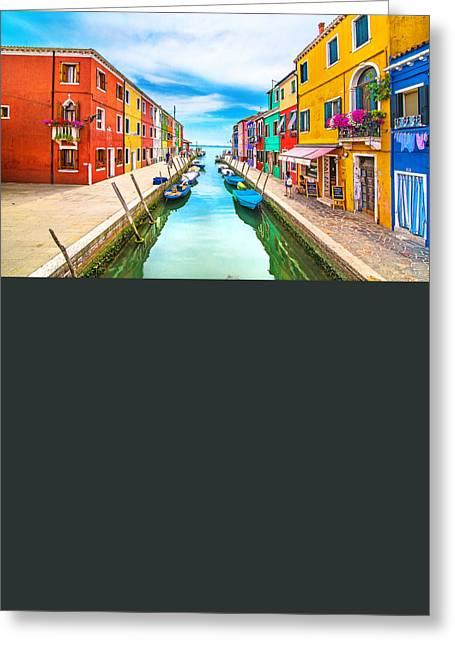 Venice Tour Greeting Cards - Burano Greeting Card by Ivan Vukelic