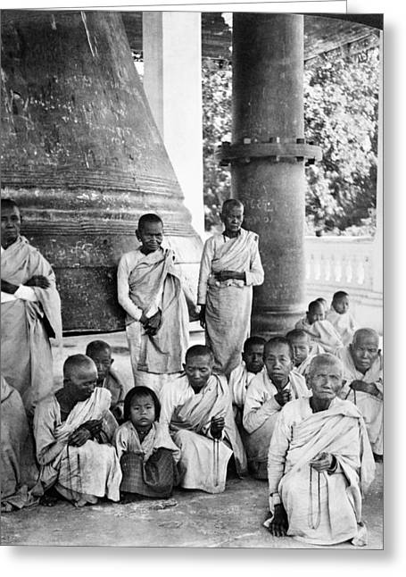 1907 Greeting Cards - Burma: Buddhist Monks Greeting Card by Granger