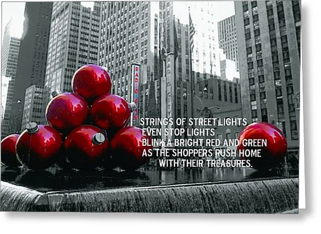 BUSY SIDEWALKS Greeting Card by JAMART Photography