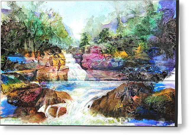 Best Sellers -  - Buttermilk Falls Greeting Cards - Buttermilk Falls III Greeting Card by Patricia Allingham Carlson