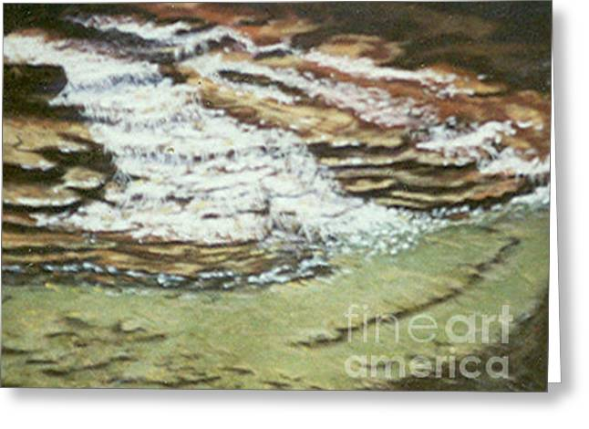 Ithaca Pastels Greeting Cards - Buttermilk Falls Ithaca Greeting Card by Dian Paura-Chellis