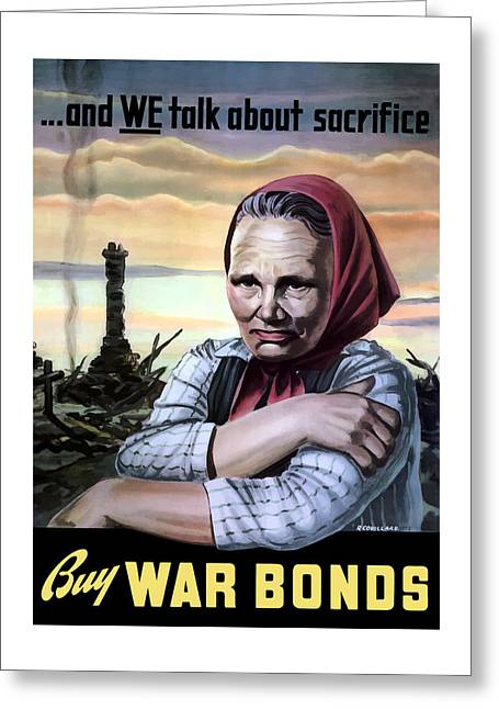 Ww11 Digital Greeting Cards - Buy War Bonds Greeting Card by War Is Hell Store