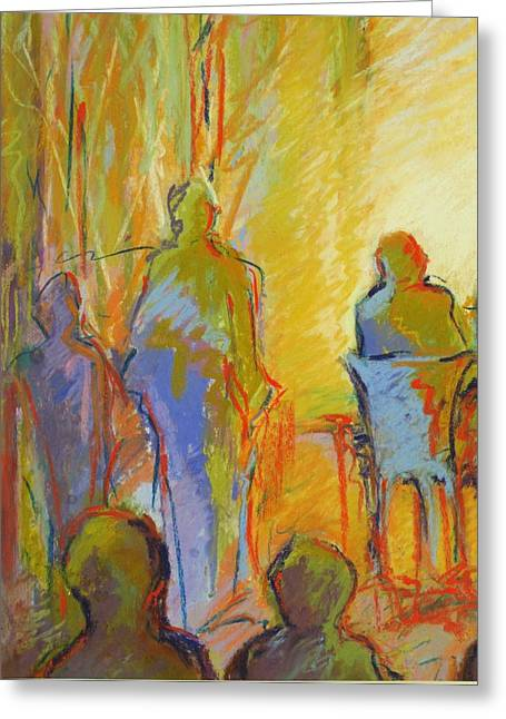 Cafe Pastels Greeting Cards - Cafe One Greeting Card by LaDonna Kruger