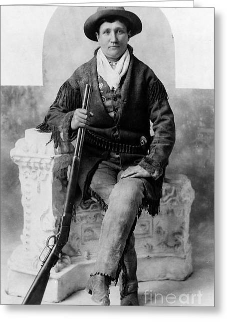 Calamity Jane, American Frontierswoman Greeting Card by Science Source