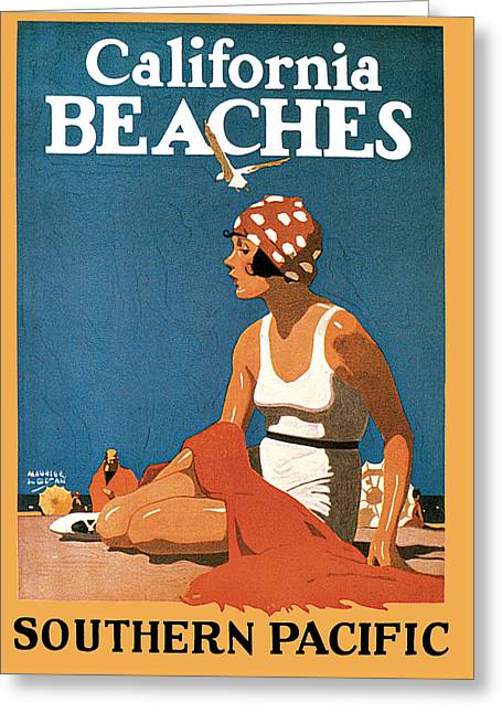 California Beach Art Greeting Cards - California Beaches Greeting Card by Maurice Logan