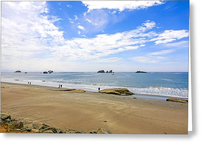 Outlook Greeting Cards - California Coastline Greeting Card by Chris Smith