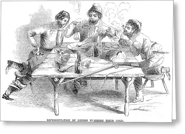 Prospector Greeting Cards - California Gold Rush, 1853 Greeting Card by Granger