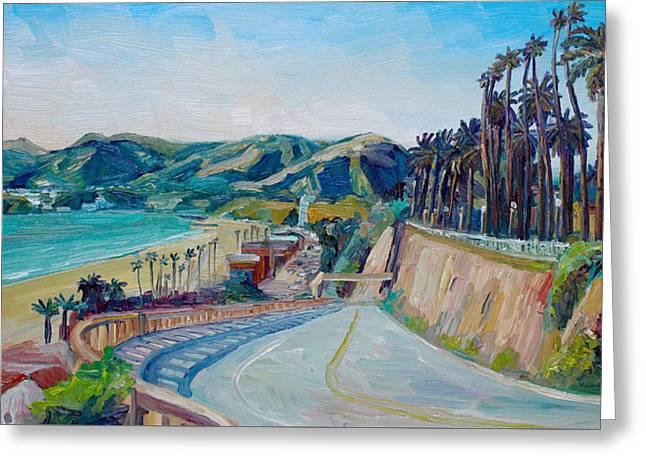 California Incline Greeting Card by John Kilduff