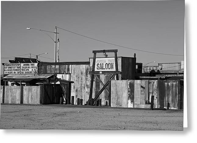 Live Music Greeting Cards - California Saloon Greeting Card by Mountain Dreams