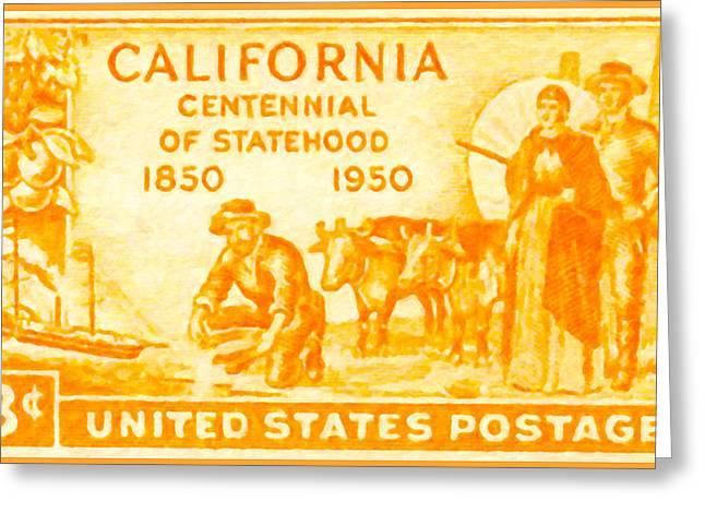 Californian Greeting Cards - California Statehood Centennial Greeting Card by Lanjee Chee