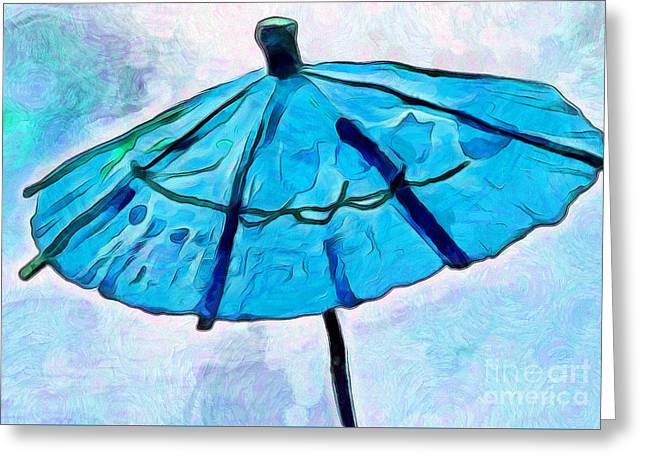 Whimsical. Greeting Cards - Calm Shelter Greeting Card by Krissy Katsimbras