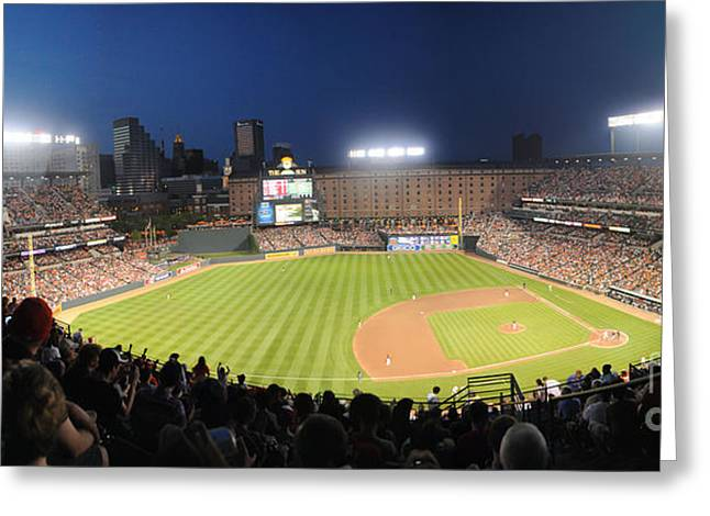 Sports Framed Photo Greeting Cards - Camden Yards Greeting Card by Matt Zerbe