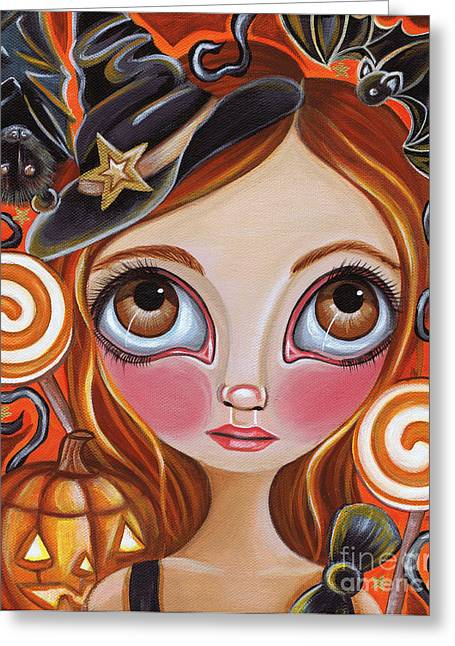 Cancer - Zodiac Mermaid Greeting Card by Jaz Higgins