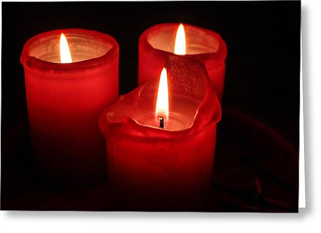 Candle Lit Greeting Cards - Candles Greeting Card by FL collection