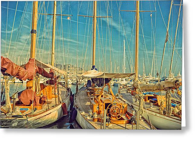 Cannes Greeting Cards - Cannes Harbor Greeting Card by Stokpic