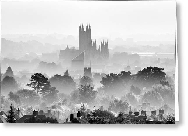 Canterbury Greeting Card by Ian Hufton