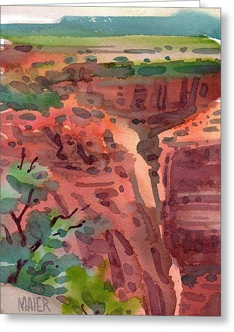 Canyons Paintings Greeting Cards - Canyon de Chelly Greeting Card by Donald Maier