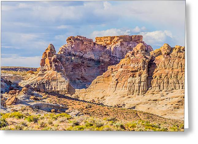 Sand Patterns Greeting Cards - Canyon Geological Formations In Utah And Arizona Greeting Card by Alexandr Grichenko