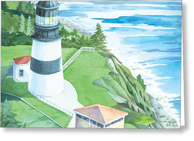 Cape Disappointment Lighthouse Greeting Card by Paul Brent