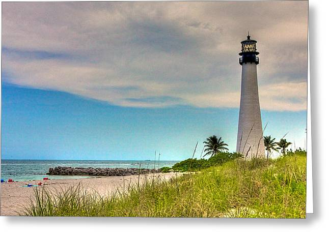 Bill Baggs Greeting Cards - Cape Florida Lighthouse Greeting Card by William Wetmore