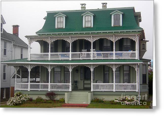 Beach Photography Greeting Cards - Cape May Victorian Greeting Card by Skip Willits