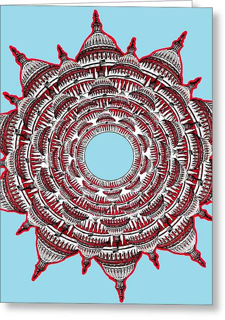 Capitol Drawings Greeting Cards - Capitol Star Greeting Card by Gabe Art Inc