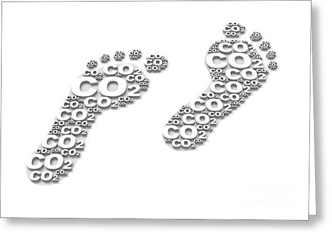 Co2 Greeting Cards - Carbon Footprint, Conceptual Artwork Greeting Card by David Mack