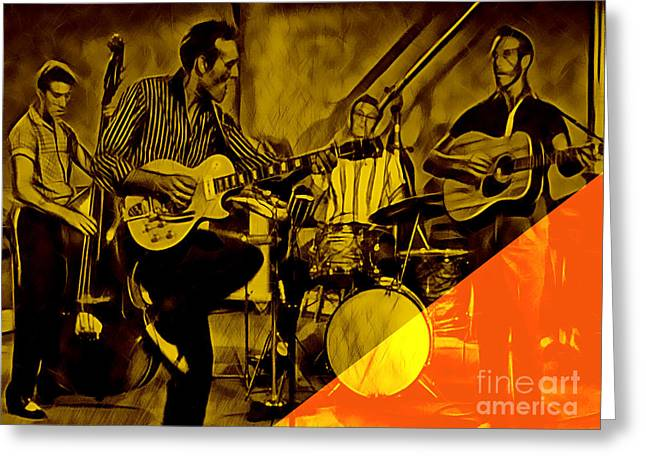 Rock N Roll Greeting Cards - Carl Perkins Collection Greeting Card by Marvin Blaine