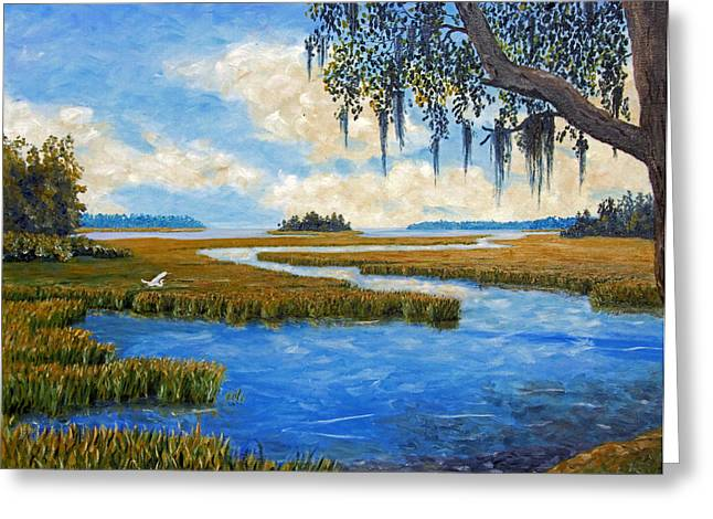Tidal River Greeting Cards - Carolina Colors Greeting Card by Stanton D Allaben